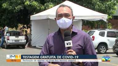 Termina amanhã (30) a testagem gratuita de Covid-19 no sistema drive-thru em São Luís - O sistema drive-thru está instalado no estacionamento do Multicenter Sebrae.