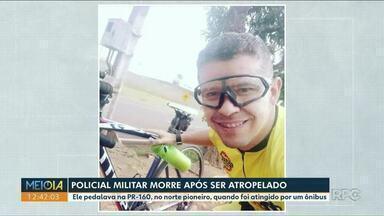 Policial militar morre após ser atropelado por ônibus na PR-160 - Ele estava de folga, pedalando com os amigos quando sofreu o acidente.
