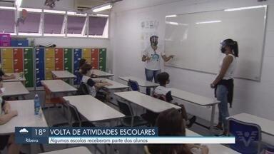 Algumas escolas particulares de Santos retomam atividades presenciais - Retorno ocorre após consulta com pais e escolas particulares.