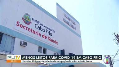 Hospital Unilagos, em Cabo Frio, deve ser desativado até a próxima semana - De acordo com a Prefeitura, o fechamento da unidade acontece porque o número de internações está baixo.