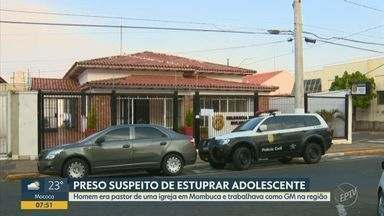 Pastor de igreja de Mombuca é preso suspeito de estuprar menina de 13 anos em Rafard - Acusado também é GCM e havia solicitado a guarda da menina, em 2019, após ela ser estuprada pelo próprio pai. Ele estava foragido há 2 meses e foi localizado no Paraná.