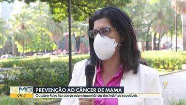 Outubro Rosa alerta sobre importância dos hábitos saudáveis para evitar o câncer de mama - Alimentação correta e atividade física regular podem ajudar na prevenção.