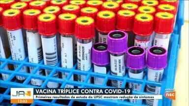Pesquisa da UFSC sobre vacina tríplice viral contra a Covid-19 mostra redução de sintomas - Pesquisa da UFSC sobre vacina tríplice viral contra a Covid-19 mostra redução de sintomas