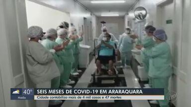 Araraquara completa 6 meses do 1º caso de Covid e soma mais de 4 mil com 47 mortes - Cidade tem o segundo maior número de contaminados.