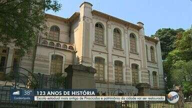 Escola estadual mais antiga de Piracicaba deve ser restaurada - A obra no colégio que tem 123 anos de história está prevista para ser concluída em seis meses.