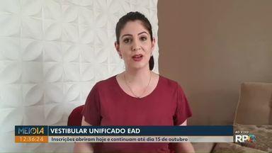 Vestibular Unificado EaD abre inscrições no Paraná - Interessados podem se inscrever até 15 de outubro.