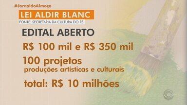 Governo do RS abre dois editais para repassar recursos a profissionais da cultura - Entidades e projetos podem ser beneficiados com a Lei Aldir Blanc.