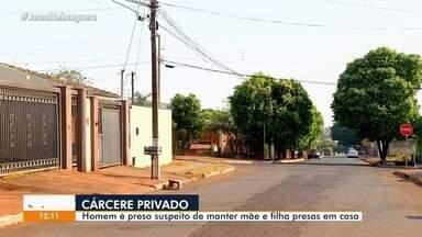 Homem é preso suspeito de manter mulher e filha em cárcere privado, em Rio Verde - Polícia Militar realizou a prisão.