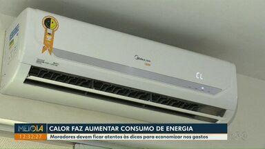 Calor faz aumentar o consumo de energia elétrica - Moradores devem ficar atentos às dicas para economizar nos gastos.