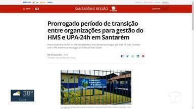 Transição de O.S na gestão do HMS e UPA é destaque no G1 Santarém e Região - Confira essas e outras notícias pelo celular, tablet e computador.