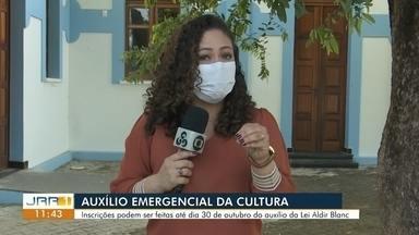 Auxilio emergencial da cultura - Inscrições vão até o dia 30 de outubro do auxílio da Lei Aldir Blanc