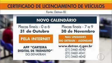 Detran-RJ prorroga prazo para licenciamento de veículos com placas finais 0, 1 e 2 - Veja o novo calendário.