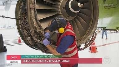 Conheça a rotina dos mecânicos de aviões de Guarulhos - Setor funciona 24h por dia