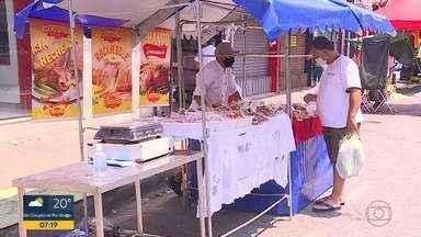 Feiras livres voltam a funcionar em Contagem - Primeiro fim de semana com a volta das feiras na cidade, da Grande BH
