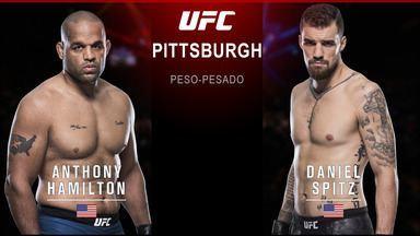 UFC Rockhold x Branch - Anthony Hamilton x Daniel Spitz - Luta entre Anthony Hamilton x Daniel Spitz, válida pelo UFC Rockhold x Branch - em 16/09/2017.