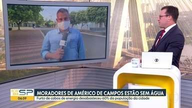 Furto de cabos deixa moradores de Américo de Campos sem água - Cabos da principal bomba de abastecimento da cidade foram furtados.