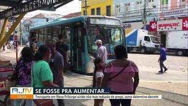 Preço do transporte em Nova Friburgo, RJ, ainda não teve redução, como determina o decreto - Decreto foi publicado há um mês no município.