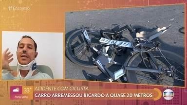 Bicampeão de ciclismo se recupera após atropelamento na orla da Lagoa da Pampulha - Ricardo Alcici foi atropelado durante um treino e diz que capacete foi determinante para salvar sua vida