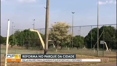 GDF vai reformar quadras do Parque da Cidade - Serão 27 quadras poliesportivas do parque e o vestiário da piscina de ondas. A previsão é que a obra comece até o início do ano que vem.