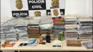 Polícia de SP apreende quase uma tonelada de cocaína, maior apreensão deste ano - Ao todo, quase uma tonelada da droga foi apreendida. Só em uma casa, na Zona Sul da capital, foram encontrados 500 kg de cocaína.