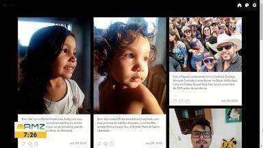 Telespectador na tela do Bom Dia Amazônia desta sexta-feira (9) - Para participar envie sua foto para 99114-0924.