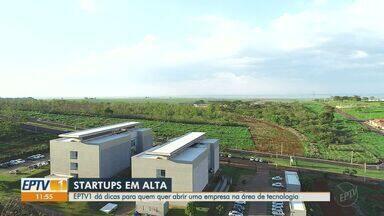 EPTV 1 dá dicas para quem quer abrir uma empresa na área de tecnologia - Em Ribeirão Preto, Supera Parque dá suporte a quem quer abrir uma startup.