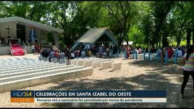 Romaria até santuário em Santa Izabel do Oeste foi cancelada por causa da pandemia - Celebrações estão sendo realizadas no centro da cidade.
