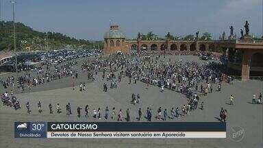 Aparecida tem programação especial e medidas restritivas por conta da pandemia - Feriado de Nossa Senhora Aparecida atrai milhares de fiéis à Basílica.