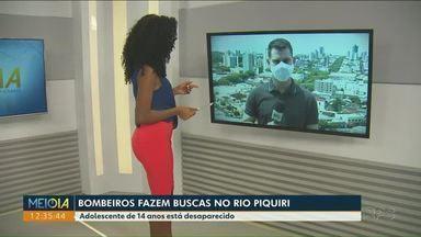 Buscas por adolescente desaparecido no Rio Piquiri continuam - Ele estava com a família as margens do rio aproveitando o fim de semana quando se afogou.