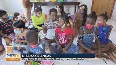 ONG em Uberlândia atende quase 80 crianças refugiadas - Na ONG 'Refugiados', são oferecidas oficinas e apoio psicológico. Veja como ajudar.