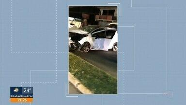 Acidente grave foi registrado na região central de Joinville - Acidente grave foi registrado na região central de Joinville