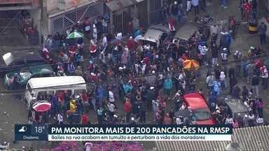 Polícia Militar monitora 200 'pancadões' na região metropolitana de SP - Além de proibidos durante a pandemia, bailes de rua acabam em tumulto.