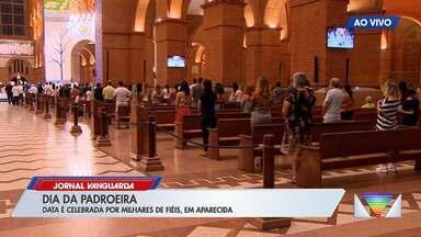 Veja o movimento do Santuário de Aparecida durante a última missa do dia - Confira as informações no link.