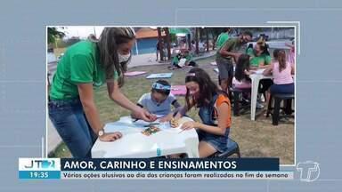 Em comemoração ao Dia das Crianças, instituições e grupos realizam ações em Santarém - Atividades de diversão e lazer foram levadas a diferentes bairros da cidade.