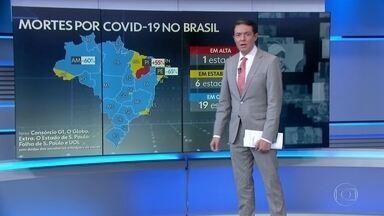 Brasil registra 716 mortes por Covid em 24 horas - A média móvel de novos casos é de 19.877 por dia, nos últimos sete dias, redução de 26% em relação à média de 14 dias atrás, segundo os dados atualizados pelo consórcio de veículos de imprensa.