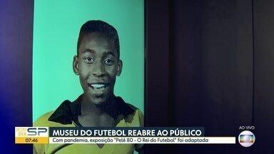 Museu do Futebol, Pinacoteca e Sala São Paulo reabrem a partir desta quinta - Museu do Futebol volta a receber público com exposição sobre a trajetória de Pelé.