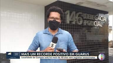 Guarus, em Campos, está há mais de 40 dias sem registrar assassinatos - Neste ano, é a segunda vez que o subdistrito fica pelo menos um mês sem homicídios registrados.