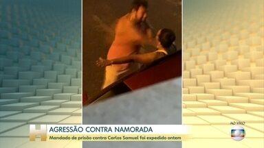 Polícia procura homem que foi gravado dando socos na namorada em Ilhéus, na Bahia - O mandado de prisão contra Carlos Samuel Freitas Costas Filho foi expedido nesta quinta-feira.