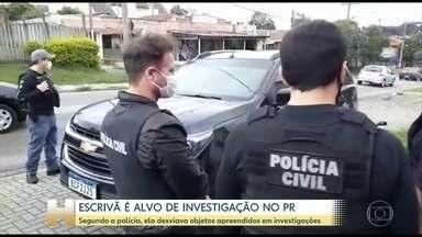 Escrivã é alvo de investigação no Paraná - Segundo polícia, ela desviava objetos apreendidos em investigações.