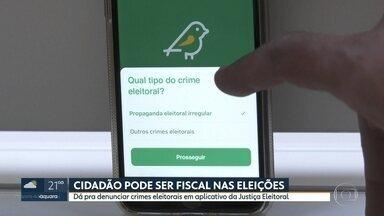 Aplicativo criado pela Justiça Eleitoral permite cidadão ser fiscal nas eleições - Com aplicativo, eleitor pode denunciar crimes eleitorais.