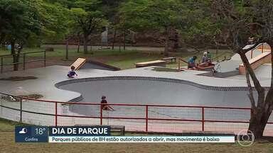 Nove parques públicos de BH estão funcionando - Apesar de estarem abertos, movimento de público ainda é baixo.