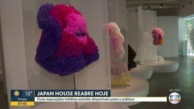 Japan House reabre para público a partir desta terça - Centro cultural japonês, na Av. Paulista, ficou sem receber visitantes por conta pandemia.