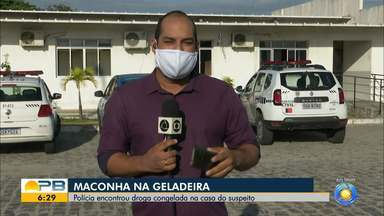 Polícia encontra droga congelada em casa de vigilante, em João Pessoa - Além da droga, ele foi preso em flagrante portando arma