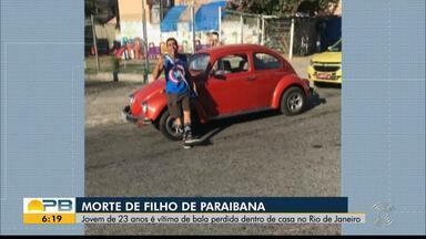 Filho de paraibana morre vítima de bala perdida dentro de casa, no Rio de Janeiro - Bala atravessou parede e guarda-roupa, atingindo vítima no peito