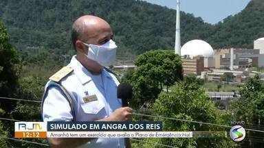 Simulado em Angra dos Reis avalia o Plano de Emergência Nuclear na cidade - Exercício nas usinas nucleares vai testar mecanismo de fuga e resgate em caso de acidente.