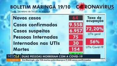 Maringá tem mais 2 mortes por coronavírus - São mais de 9 mil casos da doença.