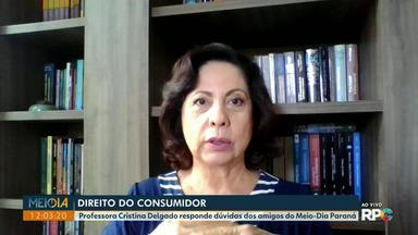Professora Cristina Delgado tira dúvidas sobre direito do consumidor - Perguntas foram enviadas pelos canais de comunicação do Meio-Dia Paraná.
