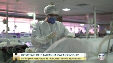 JH faz levantamento em todo país sobre os hospitais de campanha para combate à Covid-19 - Foram pelo menos 129 hospitais temporários abertos. São Paulo teve o maior número de hospitais de campanha criados: 37. Santa Catarina e Espírito Santo não abriram nenhum hospital de campanha.
