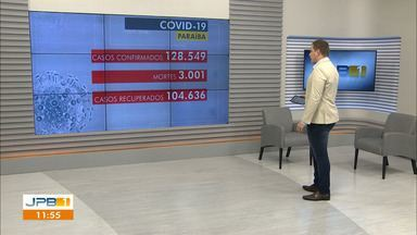 Paraíba tem 128.549 casos confirmados e 3.001 mortes por coronavírus - Aulas presenciais para alunos do 2º ano do Ensino Médio retornam em João Pessoa.