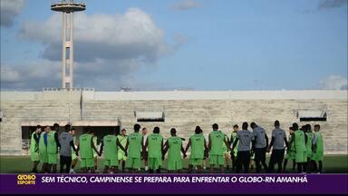 Ainda sem treinador, Campinense se prepara para duelo contra o Globo FC - Confronto acontece na noite desta quarta-feira, no Estádio Amigão